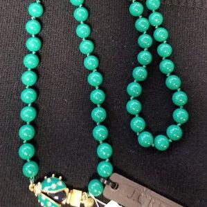 Rare J Crew beaded Ladybug necklace